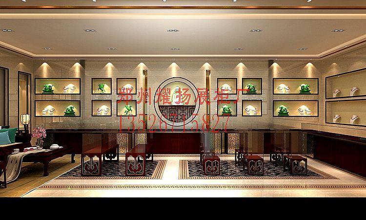 珠宝店木质高端展柜设计
