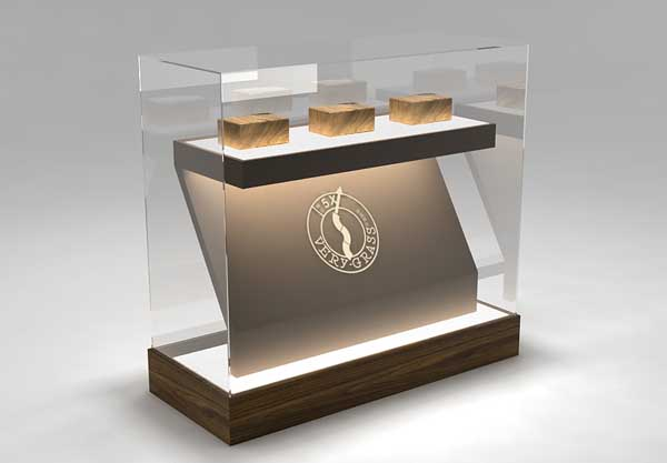 高端产品展示的展柜设计和制作效果图片
