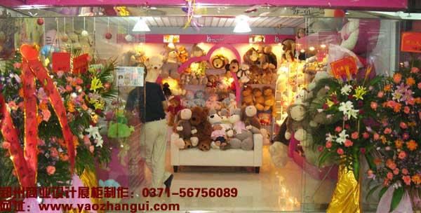玩具店展柜制作設計|毛絨絨玩具店裝修展柜設計欣賞