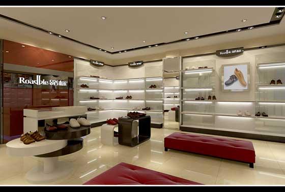 路标品牌鞋店展柜制作设计和店面装修效果欣赏